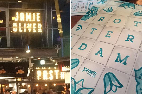 Diner bij Jamie's Italian in de Markthal Rotterdam