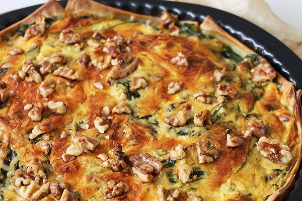 Glutenvrije quiche met venkel en spinazie + Nieuw boek!