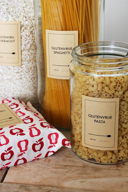 'Glutenvrij' etiketten