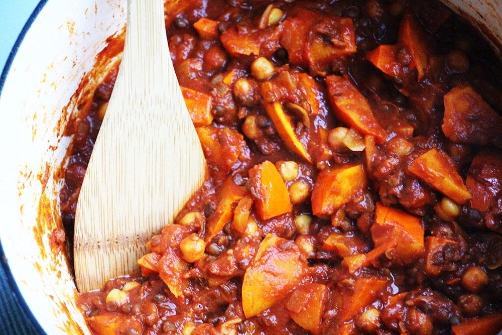 Zoete pompoenstoof – glutenvrij & vegetarisch recept